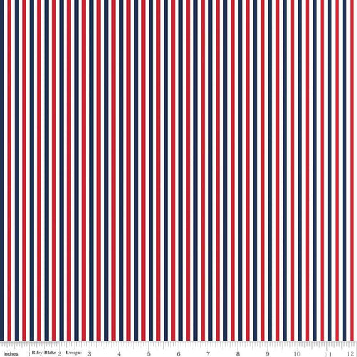 1/8 inch Patriotic Stripes - Priced by the Half Yard - brewstitched.com