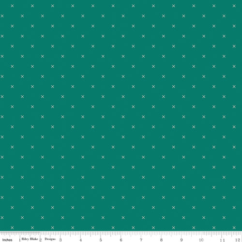 Bee Cross Stitch Jade - Priced by the Half Yard - Expected Jan 2021 - brewstitched.com