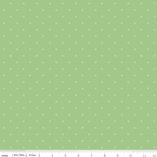 Bee Cross Stitch Riley Green - Priced by the Half Yard - Expected Jan 2021 - brewstitched.com