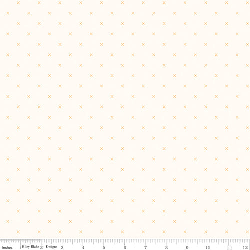 Bee Cross Stitch on Cloud Daisy - Priced by the Half Yard - Expected Jan 2021 - brewstitched.com