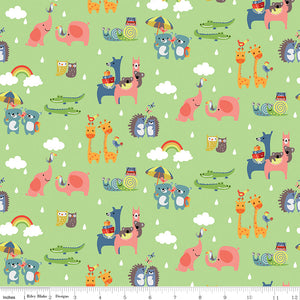 Noah's Ark Two-by-Two Green - brewstitched.com