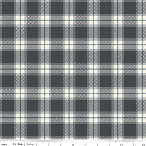 My Heritage Plaid Charcoal - Priced by the Half Yard - brewstitched.com