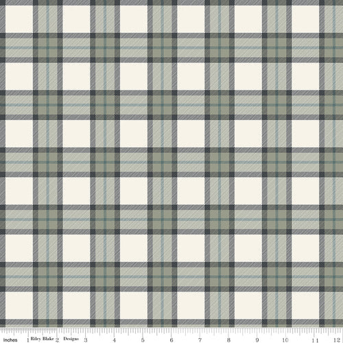 My Heritage Plaid Cream - Priced by the Half Yard - brewstitched.com
