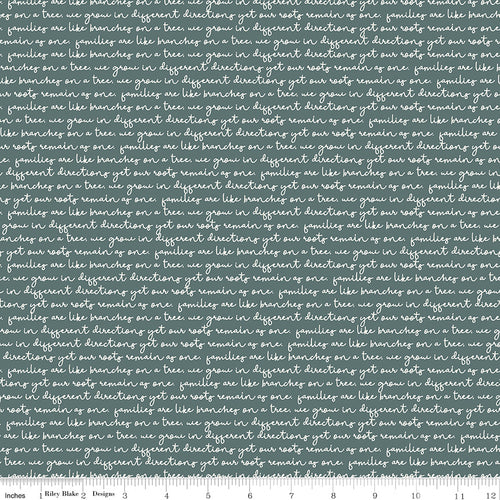 My Heritage Text Teal - Priced by the Half Yard - brewstitched.com