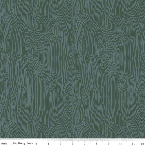 My Heritage Faux Bois Teal - Priced by the Half Yard - brewstitched.com