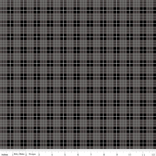Wild at Heart Plaid Gray - Priced by the Half Yard - brewstitched.com