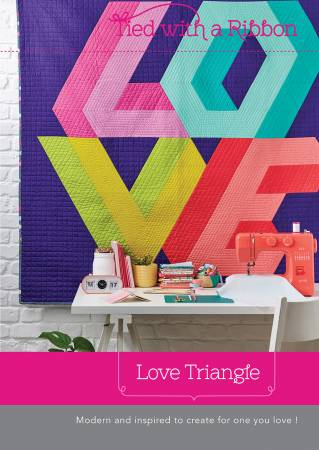 Love Triangle Quilt Paper Pattern - brewstitched.com