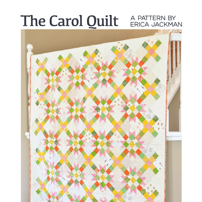The Carol Quilt Paper Pattern by Kitchen Table Quilting - brewstitched.com