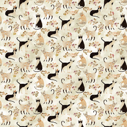 Marcel Cats - Priced by the half yard - brewstitched.com