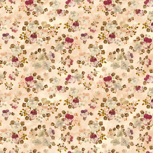 Marcel Floral Pink - Priced by the half yard - brewstitched.com