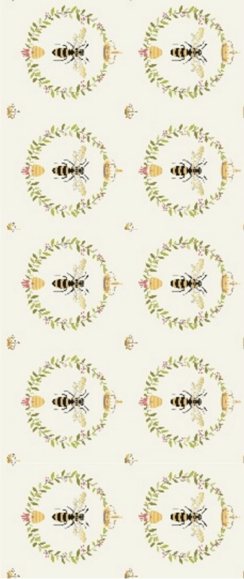 Queen Bee Panel - brewstitched.com