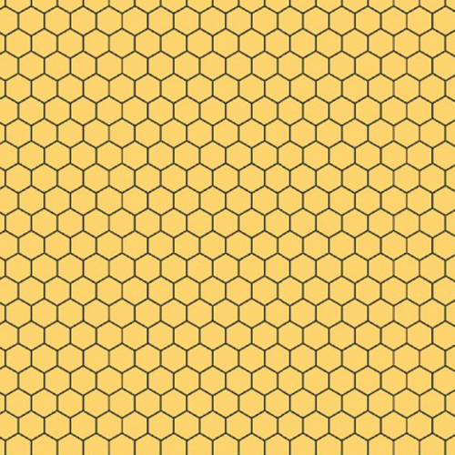 Queen Bee Yellow Honeycomb - Priced by the Half Yard - brewstitched.com