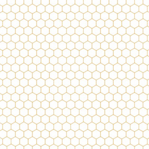 Queen Bee Cream Honeycomb - Priced by the Half Yard - brewstitched.com