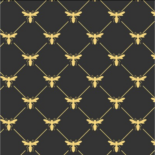 Queen Bee Black Bees - Priced by the Half Yard - brewstitched.com