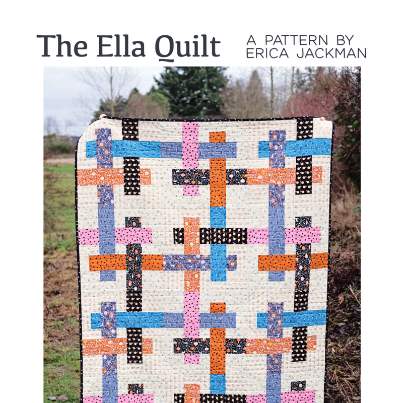 The Ella Quilt Paper Pattern by Kitchen Table Quilting - brewstitched.com