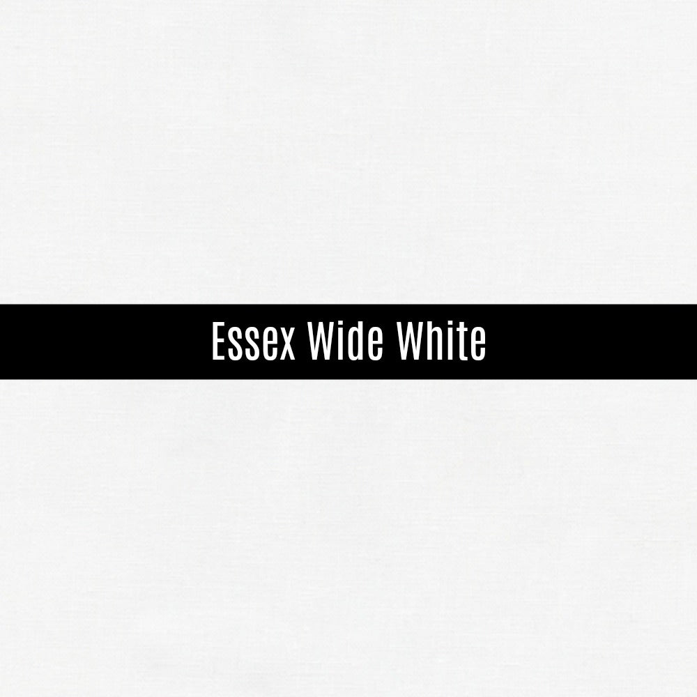 Essex Wide Linen in White - Priced by the Half Yard - brewstitched.com