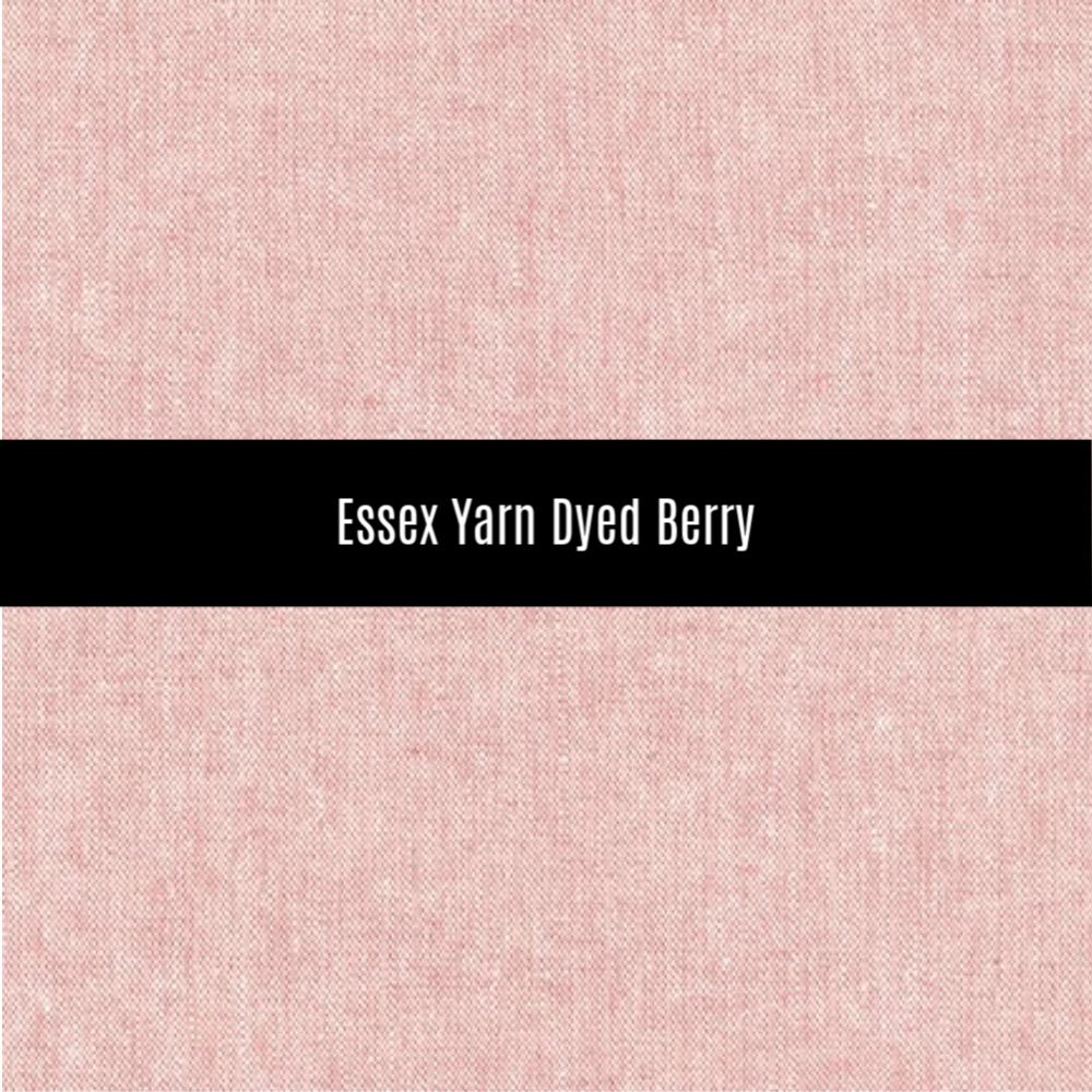 Essex Yarn Dyed Linen in Berry - Priced by the Half Yard - brewstitched.com