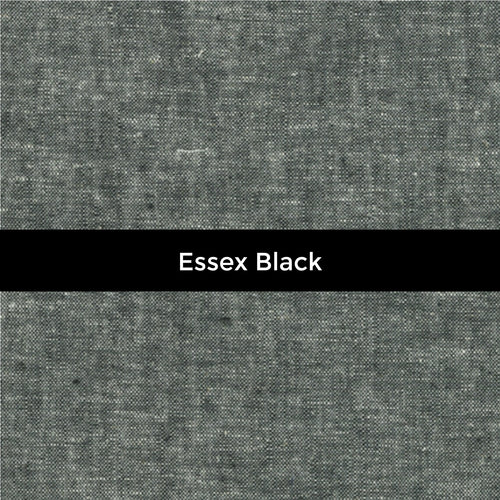 Essex Yarn Dyed Linen in Black - Price by the Half Yard - brewstitched.com