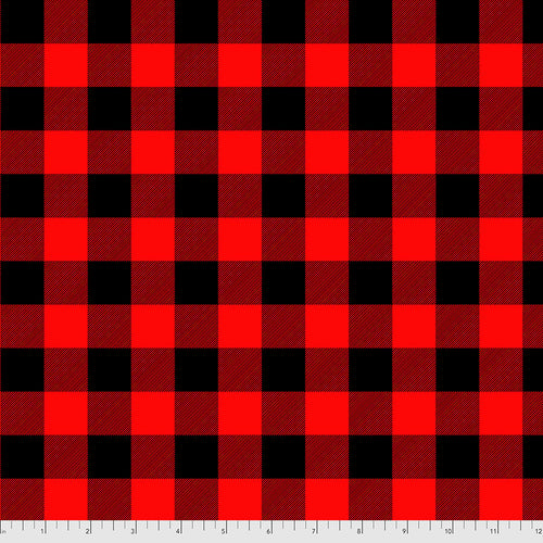 Holiday Homies Flannel Check Yo'self Holly Berry - Priced by the Half Yard - Expected June 2021 - brewstitched.com