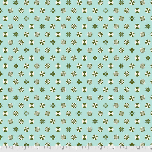 Holiday Homies Flannel Peppermint Stars Pine Fresh - Priced by the Half Yard - Expected June 2021 - brewstitched.com