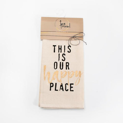 This is Our Happy Place cotton Chill Tea Towel - brewstitched.com