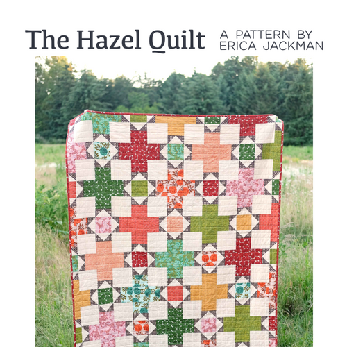 The Hazel Quilt Paper Pattern by Kitchen Table Quilting - brewstitched.com