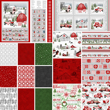 Holiday Heartland Fat Quarter Bundle - brewstitched.com