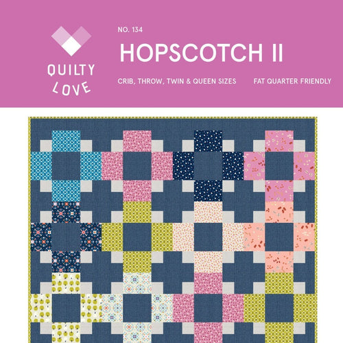 Hopscotch II Quilt Paper Pattern from Quilty Love - brewstitched.com