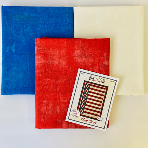 Red White & Blue Grunge Olde Glory 3 Yard Quilt Kit - brewstitched.com