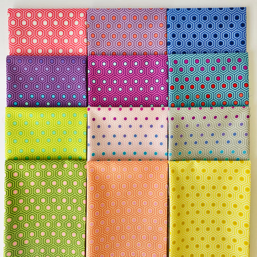 Tula's True Colors Hexy Fat Quarter Bundle - Includes 12 Prints - brewstitched.com