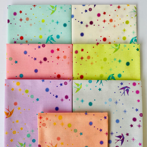 Tula's True Colors Fairy Dust Fat Quarter Bundle - Includes 7 Prints - brewstitched.com