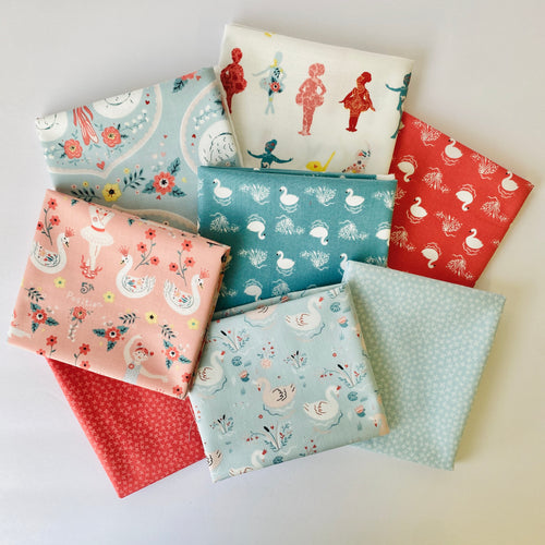 Bella Ballerina Fat Quarter Bundle - Includes 8 Prints + 1 Panel - brewstitched.com