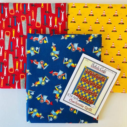 Work Zone Checkmate 3 Yard Quilt Kit - brewstitched.com