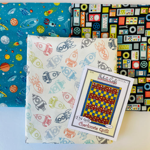 Galaxy and Beyond Checkmate 3 Yard Quilt Kit - brewstitched.com