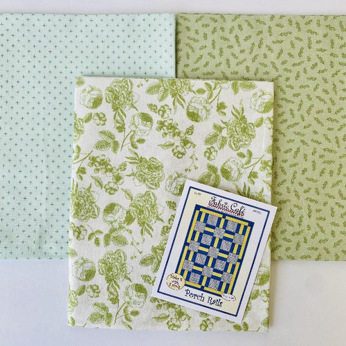 Gingham Gardens Porch Rails 3 Yard Quilt Kit - brewstitched.com