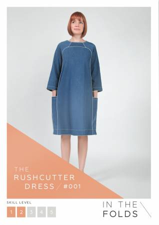 The Rushcutter Dress Paper Pattern from In The Folds - brewstitched.com