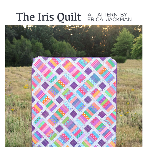 The Iris Quilt Paper Pattern by Kitchen Table Quilting - brewstitched.com