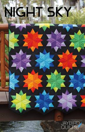 Night Sky Quilt Paper Pattern by Jaybird Quilts - brewstitched.com