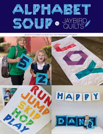 Alphabet Soup Pattern Book by Jaybird Quilts - brewstitched.com
