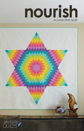 Nourish A Lone Star Quilt Paper Pattern by Jaybird Quilts - brewstitched.com