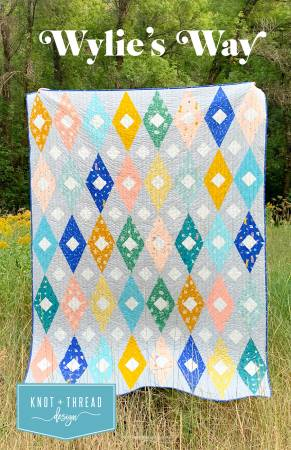 Wylie's Way Quilt Paper Pattern by Knot and Thread - brewstitched.com