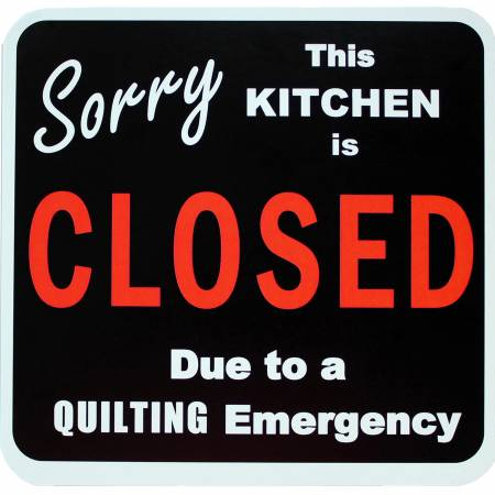 Sorry Kitchen is Closed Magnet 5-1/4in - brewstitched.com