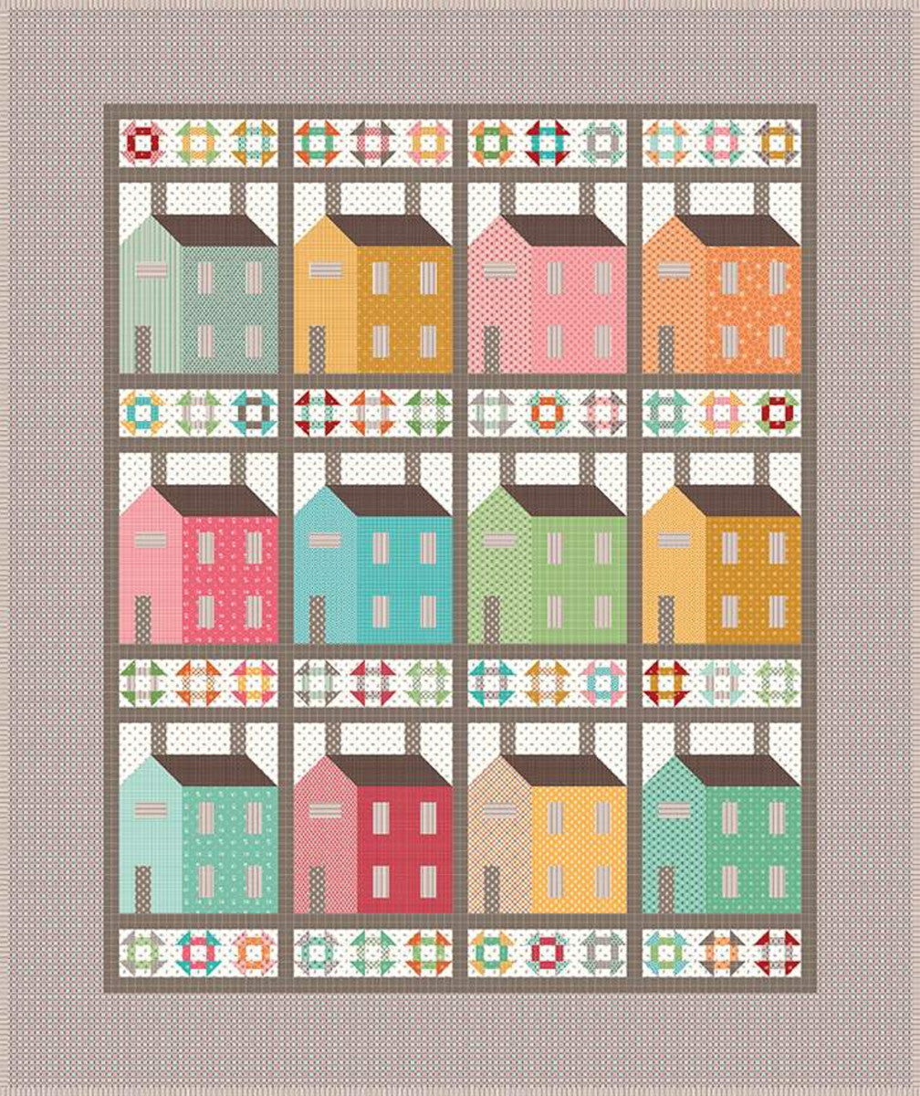 Prim Village Quilt Boxed Kit - brewstitched.com