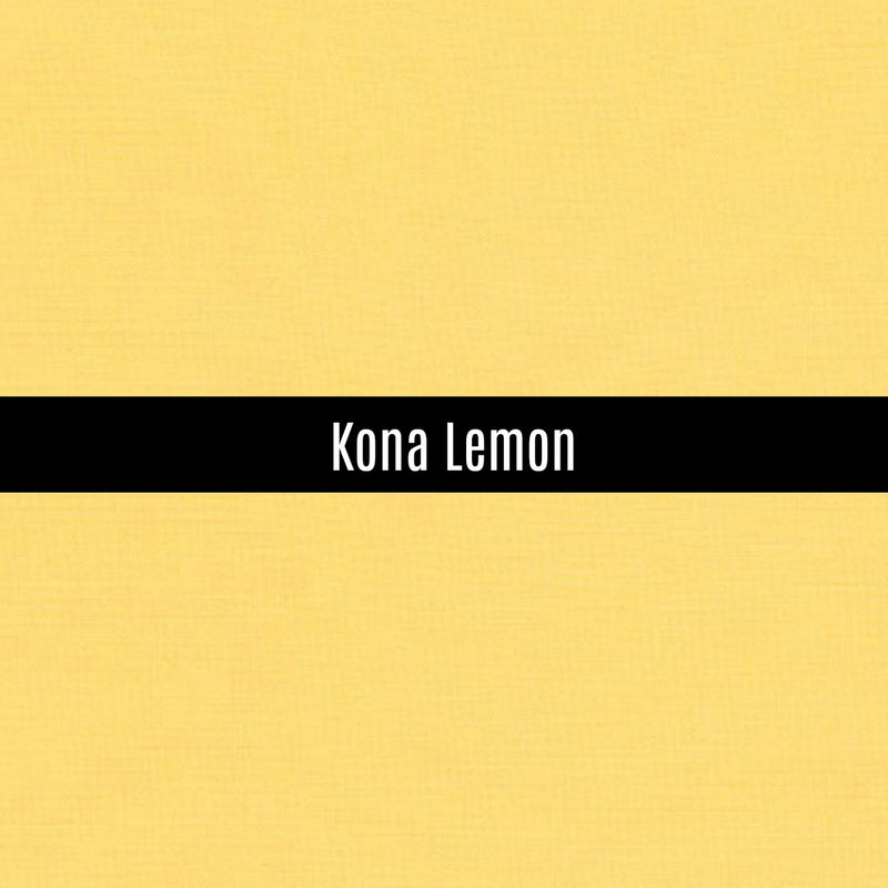 Kona Lemon - Priced by the Half Yard - brewstitched.com