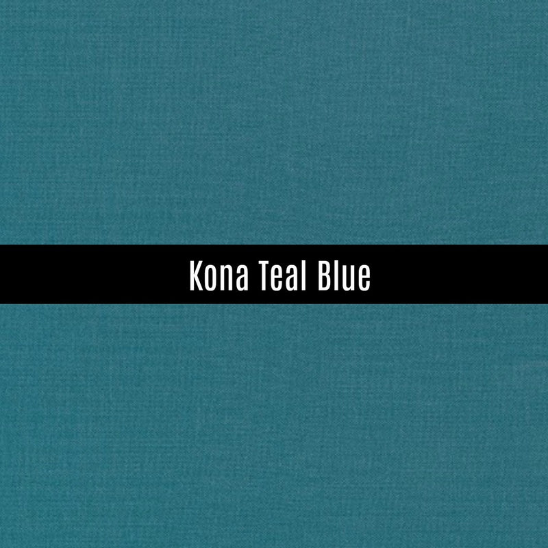 Kona Teal Blue - Priced by the Half Yard - brewstitched.com
