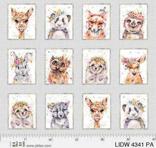 Little Darlings Woodland Animal Portraits - Priced by the Panel - Expected Dec 2020 - brewstitched.com