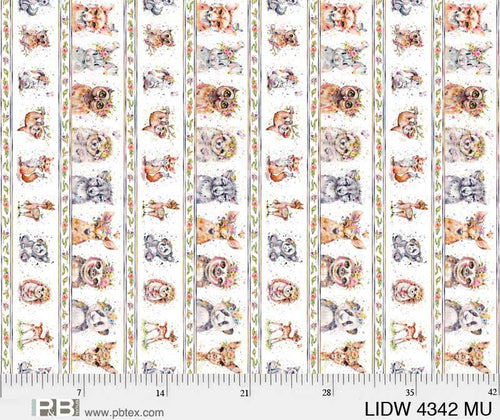 Little Darlings Woodland Border - Priced by the Half Yard - brewstitched.com