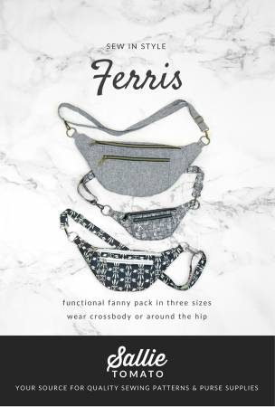 Ferris Fanny Pack Paper Pattern by Sallie Tomato - brewstitched.com