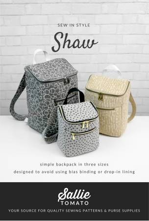 Shaw Backpack Paper Pattern by Sallie Tomato - brewstitched.com
