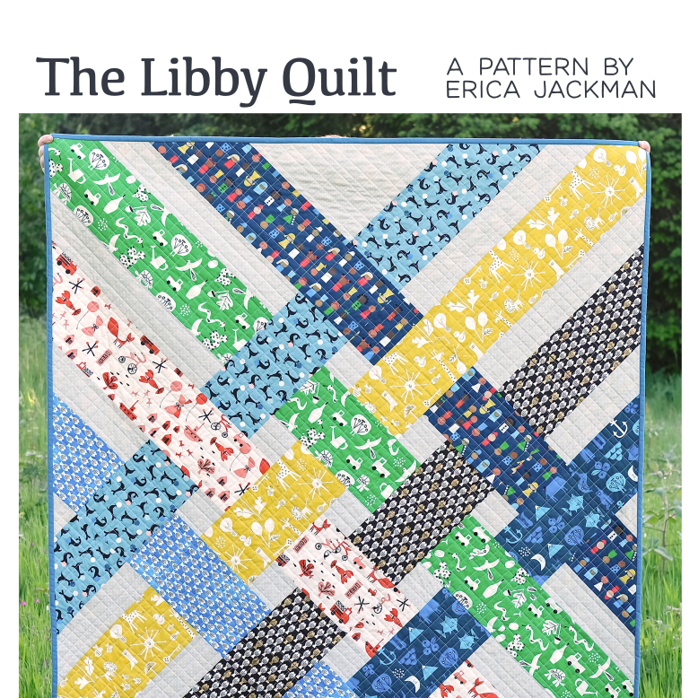 The Libby Quilt Paper Pattern from Kitchen Table Quilting - brewstitched.com